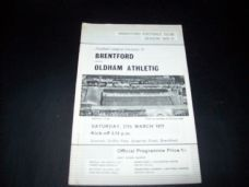 Brentford v Oldham Athletic, 1970/71